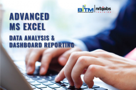 Advanced Microsoft Excel - Data Analysis & Dashboard Reporting