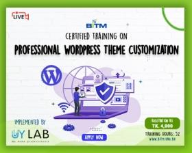 Online Training on Professional Wordpress Theme Customization(6th batch)