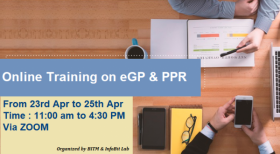3 days Online Training Course on PPR & e-GP for Bidders