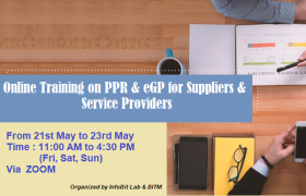 3 days online Training Course on PPR & e-GP for Suppliers & Service Providers
