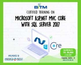 Microsoft Asp.net MVC Core  With  SQL Server 2017